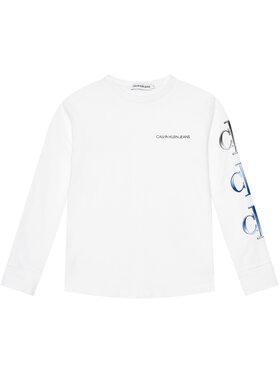 Calvin Klein Jeans Calvin Klein Jeans Bluză Logo Repeat Graphic IB0IB00819 Alb Regular Fit