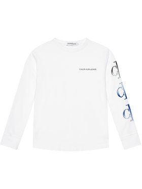 Calvin Klein Jeans Calvin Klein Jeans Блуза Logo Repeat Graphic IB0IB00819 Бял Regular Fit