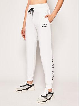 DKNY Sport DKNY Sport Spodnie dresowe DP9P2229 Biały Regular Fit