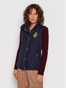 Lauren Ralph Lauren Lauren Ralph Lauren Vesta Qltd Vest W Crest 297843205002 Tmavomodrá Slim Fit