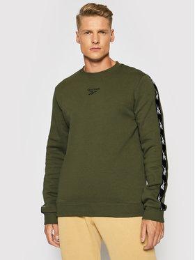 Reebok Reebok Sweatshirt Training Essentials Tape Crew GQ4210 Grün Regular Fit