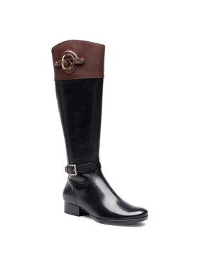 MICHAEL Michael Kors MICHAEL Michael Kors Oficerki Stockard Boots40F3ADMB6L Czarny