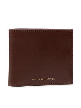 Tommy Hilfiger Tommy Hilfiger Duży Portfel Męski Casual Leather Cc Flap And Coin AM0AM07805 Brązowy