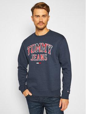 TOMMY HILFIGER TOMMY HILFIGER Bluză Plaid Tommy Graphic Crew DM0DM09429 Bleumarin Regular Fit