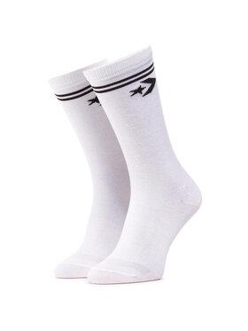 Converse Converse Σετ 2 ζευγάρια ψηλές κάλτσες γυναικείες E956W-2009 Λευκό