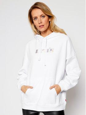 Levi's® Levi's® Majica dugih rukava Rider Iridescent Graphic 34400-0011 Bijela Oversize