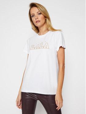 PLNY LALA PLNY LALA T-shirt Classic PL-KO-CL-00192 Blanc Regular Fit