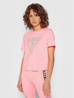Guess Guess T-shirt Caren O1BA70 JR06Z Ružičasta Relaxed Fit