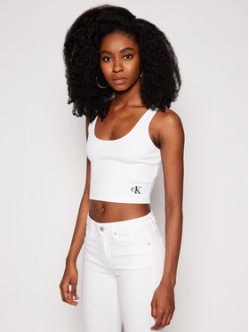 Calvin Klein Jeans Calvin Klein Jeans Marškinėliai J20J215703 Balta Regular Fit