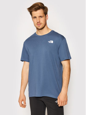 The North Face The North Face T-Shirt Red Box NF0A2TX2WC41 Granatowy Regular Fit