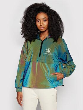 Calvin Klein Jeans Calvin Klein Jeans Geacă fără fermoar J20J216092 Verde Regular Fit