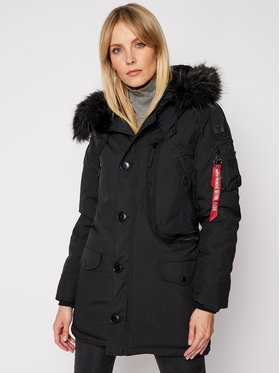Alpha Industries Alpha Industries Зимно яке Polar 123002 Черен Regular Fit
