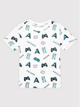 Coccodrillo Coccodrillo T-Shirt ZC1143205EVB Bílá Regular Fit