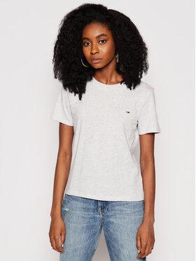 Tommy Jeans Tommy Jeans T-Shirt C Neck DW0DW09198 Szary Regular Fit