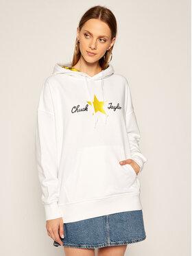 Converse Converse Sweatshirt Chuck Taylor Plaid 10020517-A01 Blanc Oversize