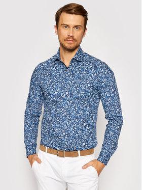 Calvin Klein Calvin Klein Koszula Printed Contrast K10K107399 Niebieski Slim Fit