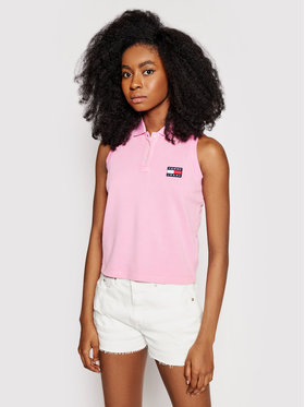 Tommy Jeans Tommy Jeans Polo DW0DW10119 Rose Regular Fit