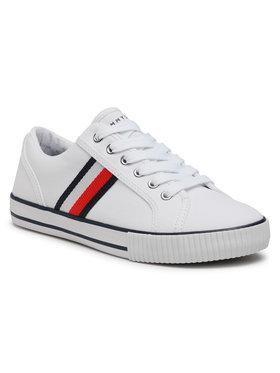 Tommy Hilfiger Tommy Hilfiger Tenisówki Low Cut Lace-Up Sneaker T3B4-31070-1185 S Biały