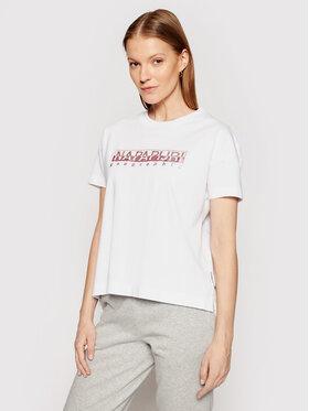 Napapijri Napapijri T-Shirt Silea NP0A4FAF Biały Regular Fit