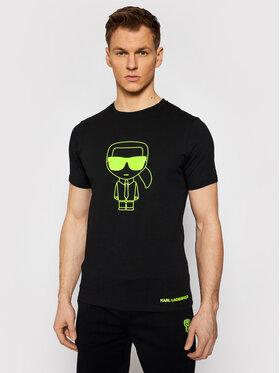 KARL LAGERFELD KARL LAGERFELD T-Shirt 755091 511224 Czarny Regular Fit