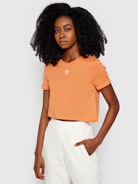 adidas adidas Marškinėliai adicolor Classics GN2805 Oranžinė Regular Fit