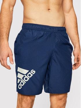 adidas adidas Pantaloni scurți pentru înot Classic Length Logo GM2213 Bleumarin Regular Fit