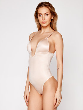 SPANX SPANX Body Syf Plunge Low Back Thong 10206R Beżowy