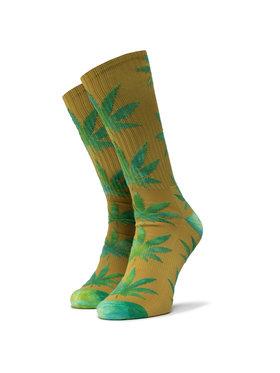 HUF HUF Ilgos Unisex Kojinės Plantlife Tiedye Leaves Sock SK00433 r.OS Geltona