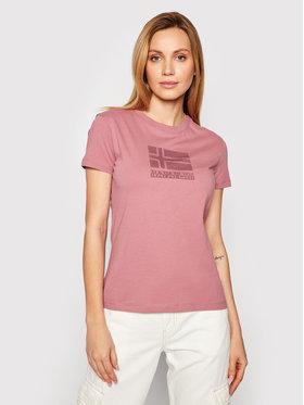 Napapijri Napapijri T-Shirt Seoll NP0A4FAI Różowy Regular Fit
