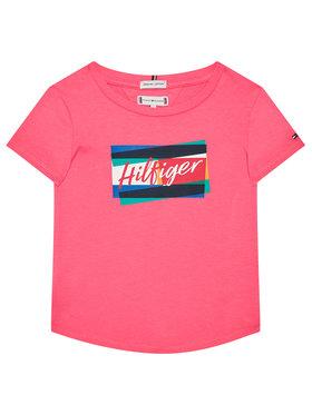 TOMMY HILFIGER TOMMY HILFIGER Marškinėliai Fun Flag Tee KG0KG05253 Rožinė Regular Fit