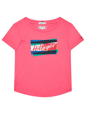 TOMMY HILFIGER TOMMY HILFIGER Tricou Fun Flag Tee KG0KG05253 Roz Regular Fit