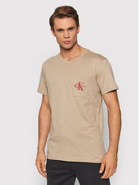 Calvin Klein Jeans Calvin Klein Jeans T-Shirt J30J319098 Beżowy Regular Fit