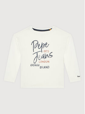 Pepe Jeans Pepe Jeans Μπλουζάκι Sandri PG502721 Λευκό Regular Fit