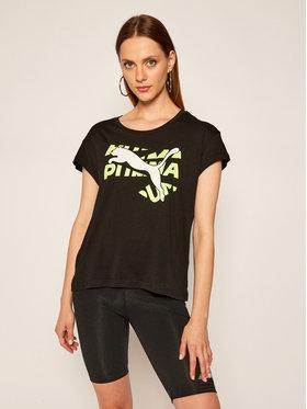 Puma Puma T-Shirt Modern Sports Graphic Tee 583536 Černá Relaxed Fit