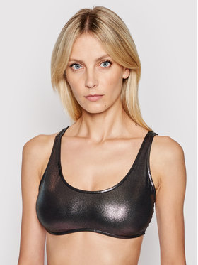 Calvin Klein Swimwear Calvin Klein Swimwear Горнище на бански Bralette Metallic KW0KW01247 Сребрист