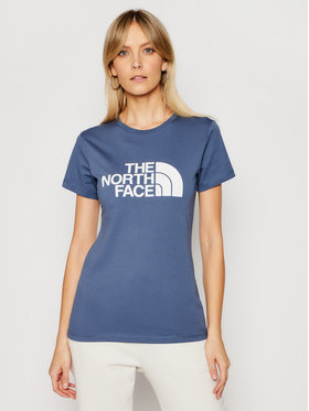 The North Face The North Face T-Shirt Easy NF0A4T1QWC41 Modrá Regular Fit