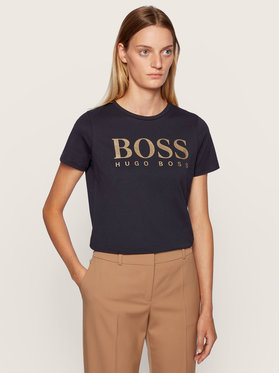 Boss Boss Tricou C_Elogo 50436773 Negru Regular Fit