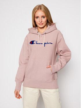 Champion Champion Felpa Script Logo 113794 Rosa Regular Fit