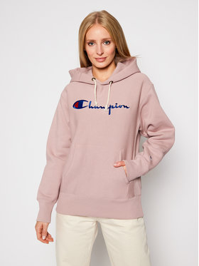 Champion Champion Sweatshirt Script Logo 113794 Rose Regular Fit