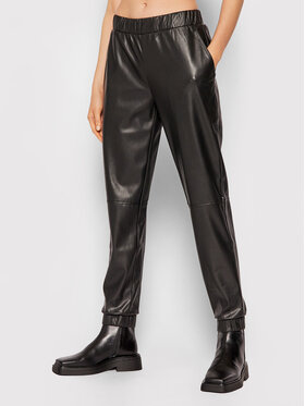 Calvin Klein Calvin Klein Pantalon en simili cuir K20K203409 Noir Regular Fit