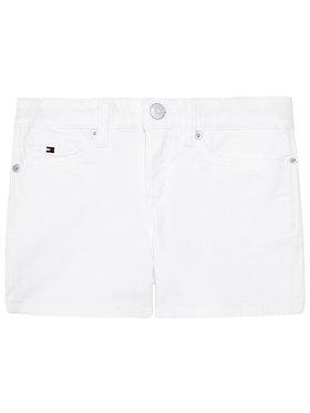 Tommy Hilfiger Tommy Hilfiger Pantaloncini di jeans Nora KG0KG05801 M Bianco Skinny Fit