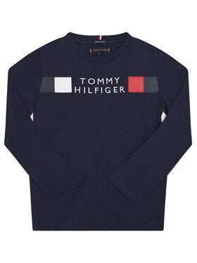 TOMMY HILFIGER TOMMY HILFIGER Bluzka Msw Global Stripe KB0KB06108 D Granatowy Regular Fit