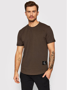 Calvin Klein Jeans Calvin Klein Jeans T-Shirt J30J315319 Brązowy Regular Fit