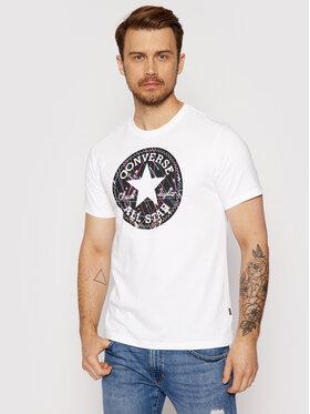 Converse Converse T-Shirt Splatter Paint Chuck Taylor Patch 10021506-A03 Biały Standard Fit