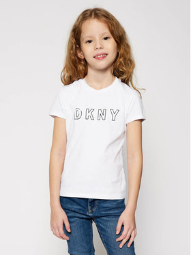 DKNY DKNY T-shirt D35Q77 S Bianco Regular Fit