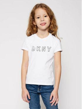 DKNY DKNY T-Shirt D35Q77 S Bílá Regular Fit