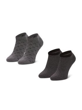 Calvin Klein Calvin Klein Súprava 2 párov členkových pánskych ponožiek 100001762 Sivá