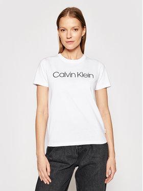Calvin Klein Calvin Klein Tričko Core Logo K20K202018 Biela Regular Fit