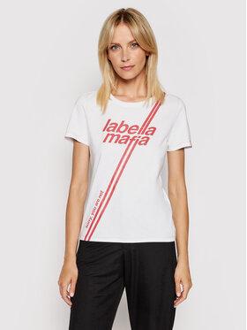 LaBellaMafia LaBellaMafia T-Shirt 20302 Biały Slim Fit
