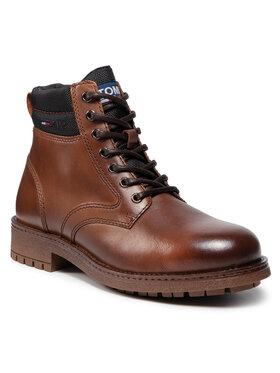 Tommy Jeans Tommy Jeans Outdoorová obuv Classic Short Lace Up Boot EM0EM00827 Hnedá